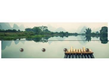 Artland Wandgarderobe »LIUSHENGFILM: Bambus-Rafting Yulong River«, grün, 30 x 90 x 2,8 cm, Grün