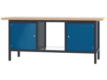 PADOR Werkbank »31 S 404«, blau, 85.5 cm, blau/anthrazit