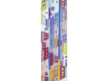 Artland Wandgarderobe »Jule: Abstrakte Stadt«, blau, 140 x 45 x 2,8 cm, Blau