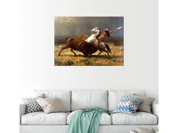 Posterlounge Wandbild - Albert Bierstadt »Der letzte Büffel«, bunt, Holzbild, 170 x 120 cm, bunt