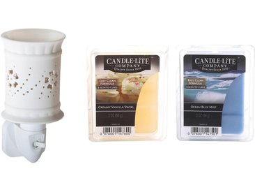 Candle-lite™ Duftlampe »Ina« (Set, Nachtlicht inklusive 2x Duftwachswürfel), Elektronisches Duftlampen-Set, weiß, weiß