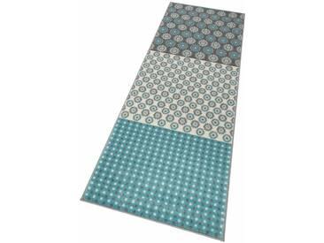 Home affaire Läufer »Elisa«, rechteckig, Höhe 8 mm, blau, 8 mm, blau