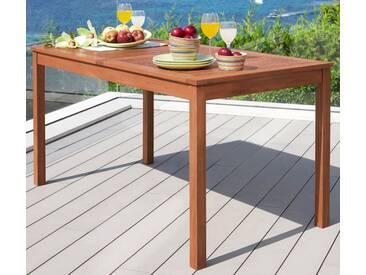 MERXX Gartentisch »Montana«, Eukalyptusholz, braun, braun, 80 cm x 150 cm, braun
