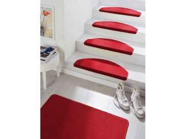 HANSE Home Stufenmatte »Fancy«, stufenförmig, Höhe 7 mm, rot, 7 mm, rot