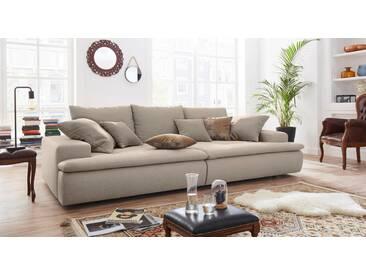 Nova Via Big-Sofa, grau, 260 cm, grau-beige