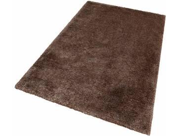 LALEE Hochflor-Teppich »Monaco«, rechteckig, Höhe 45 mm, silberfarben, 45 mm, silberfarben-sand