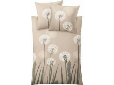 Kleine Wolke Bettwäsche »Belfiore«, mit Pusteblumen, natur, 1x 135x200 cm, Mako-Satin, beige