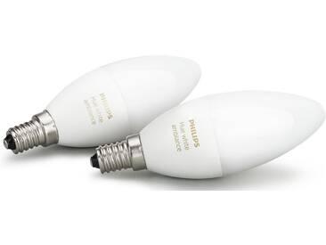 Philips Hue White Ambiance E14 Doppelpack - smartes LED-Lichtsystem mit App-Steuerung, weiß, weiß