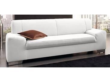 DOMO collection 3-Sitzer, weiß, 199 cm, weiß