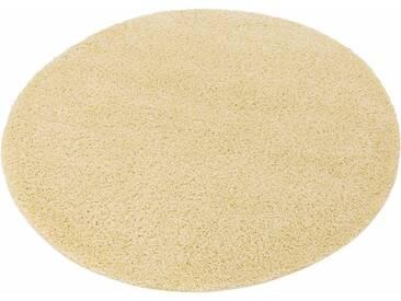 my home Hochflor-Teppich »Bodrum«, rund, Höhe 30 mm, natur, 30 mm, beige