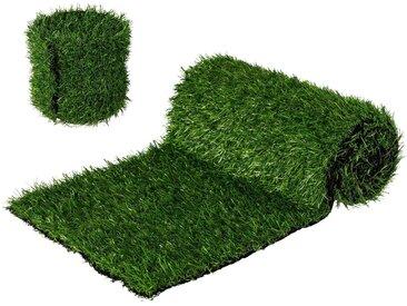 Gasper Tischläufer »Gras-Optik«, 2er Set, 15/30x180 cm, grün, grün