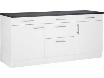 OPTIFIT Unterschrank »Mini«, Breite 180 cm mit Metallgriffen, weiß, weiß