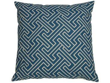 GO-DE Zierkissen »Klara «, (L/B): ca. 48x48 cm, blau, 1 Auflage, blau