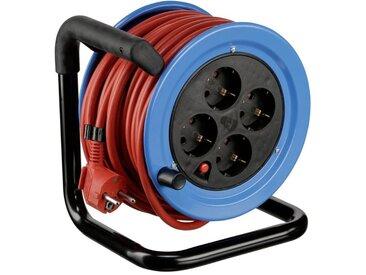REV Kabeltrommel »Minitrommel Stahlblech 15m / Kabel«, rot, red