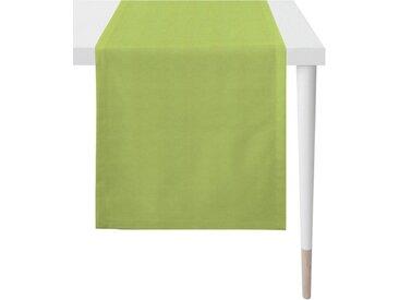 APELT Tischläufer »4388 Uni-Basic« (1-tlg), Panamagewebe, grün, Polyester, grün