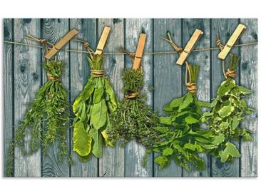Artland Küchenrückwände »Team 5: Kräuter mit Holzoptik«, grün, 50x80 cm, Grün