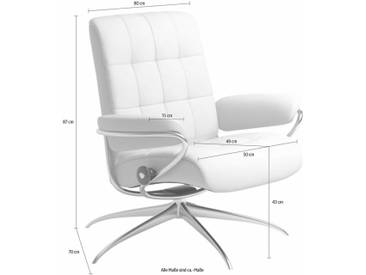 Stressless® Relaxsessel »London«, mit Star Base, in 2 Höhen, mit Relax-Funktion, rot, High Base, bordeaux