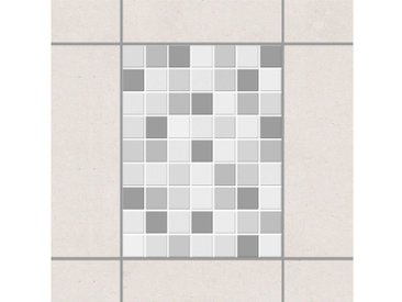 Bilderwelten Fliesenaufkleber Set 20x15 cm »Mosaikfliesen Winterset«, grau, Grau