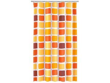 Kleine Wolke KLEINE WOLKE Duschvorhang »Sonny«, 180 x 200 cm, orange, gelb/orange/braun