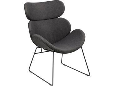 andas Sessel »Chiara« in edlem skandinavischem Design mit Gestell aus Metall, schwarz, schwarz/grau