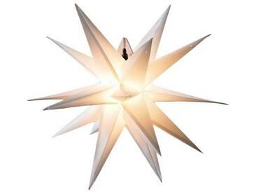 HGD Holz-Glas-Design Kunststoff-Stern für außen 18-Zacker, weiß, Weiß