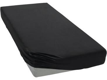 Janine Spannbettlaken »Elastic-Jersey«, auch für Wasserbetten, schwarz, Jersey-Elasthan, schwarz