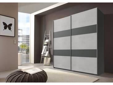 Wimex Schwebetürenschrank »Chess«, Breite 135 cm, graphit/betonfarben lichtgrau