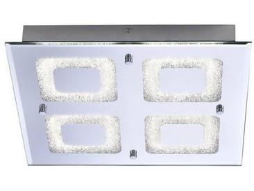 Leuchten Direkt LEUCHTEN DIREKT LED-Deckenleuchte, Spiegelglasscheibe eckig 1-flammig »LISA«, silberfarben, chromfarbig