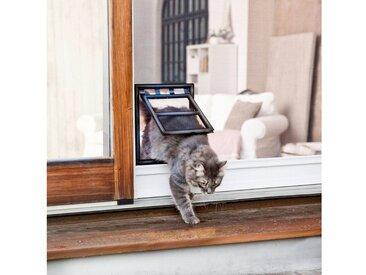 WINDHAGER Katzenklappe »Z3«, für Insektenschutz-Türen, 20x25 cm, anthrazit/schwarz