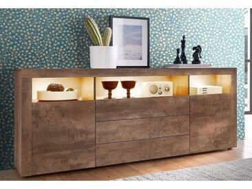 borchardt Möbel Borchardt Möbel Sideboard, Breite 166 cm, braun, stahlfarben braun