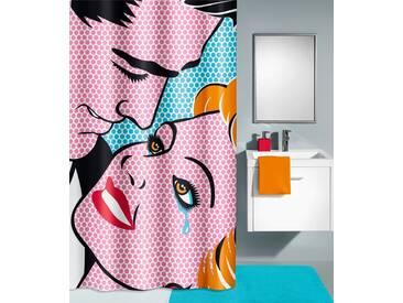 Kleine Wolke KLEINE WOLKE Duschvorhang »Kiss«, Breite 180 cm, bunt, bunt