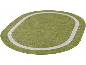 THEKO Teppich »Benito«, oval, Höhe 6 mm, In- und Outdoor geeignet, grün, 6 mm, grün