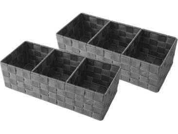 Franz Müller Flechtwaren Aufbewahrungsbox (Set, 2 Stück), grau, 35x15x10 cm, grau