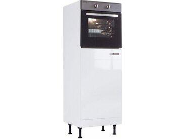 OPTIFIT »Cara« Midi-Schrank für Backofen & Einbaukühlschrank, weiß, Weiß Hochglanz/Weiß