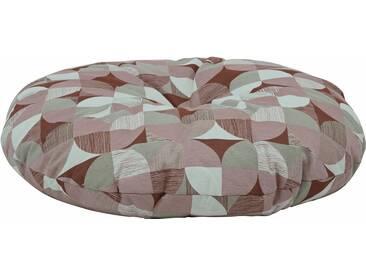 Max Winzer® Bodenkissen mit Retro Muster, braun, terracotta