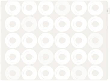 Contento Platzset »Jay - Ringe« (Set 2-tlg), weiß, Silikon, weiß