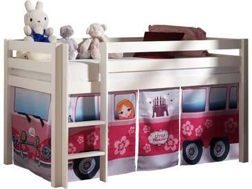 Vipack Hochbett, Furniture, bunt, Weiß lackiert, Flowerbus