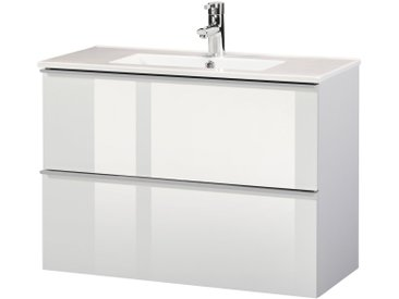 CYGNUS BATH Waschplatz »Malaga 800«, SlimeLine, Breite 80 cm, Tiefe 36 cm, (2 tlg.), weiß
