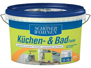 SCHÖNER WOHNEN-Kollektion SCHÖNER WOHNEN FARBE Feuchtraumfarbe »Küche/Badfarbe, fresh«, 2,5 l, grün, fresh