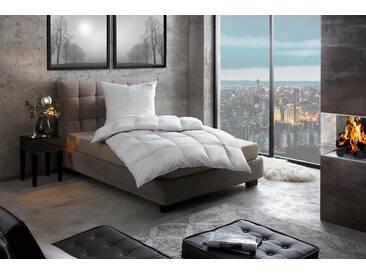 Paradies Daunenbettdecke, »Adela warm«, warm, Füllung: 100% Entendaunen, Bezug: 100% Baumwolle, (1-tlg), weiß, Premium