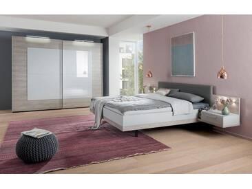nolte® Möbel Schwebetürenschrank »Novara« mit edler Glasfront, grau, seidengrau/Platin-Eiche Nachbildung