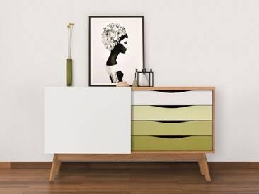 Woodman Sideboard »Hilla«, Breite 130 cm, grün, eiche/grün