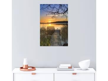 Posterlounge Wandbild - Dennis Siebert »Morgentliche Ruhe«, bunt, Holzbild, 120 x 180 cm, bunt