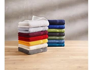 Dyckhoff Handtuch Set »Planet«, aus reiner Bio-Baumwolle (4tlg. oder 10tlg.-Set), blau, 4tlg.-Set, rauchblau