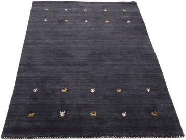 carpetfine Wollteppich »Gabbeh Uni«, rechteckig, Höhe 15 mm, handgewebt, schwarz, schwarz