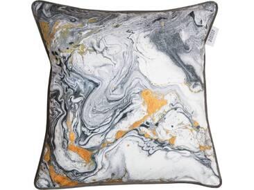 SCHÖNER WOHNEN-KOLLEKTION Kissenhülle »SW-Marble«, grau, Polyester, grau