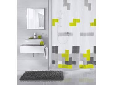 Kleine Wolke MEUSCH Duschvorhang »Pixie«, Breite 180 cm, bunt, weiß/grau schwarz/grün