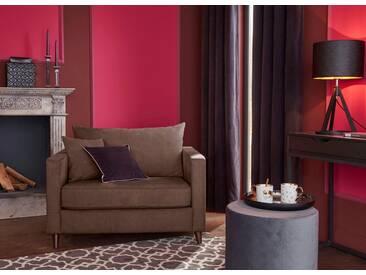 Guido Maria Kretschmer Home&Living GMK Home & Living Sessel Loveseat »Renesse«, lose Kissen, Keder an Sitzkissen, braun, braun