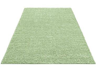 Home affaire Hochflor-Teppich »Shaggy 30«, rechteckig, Höhe 30 mm, grün, 30 mm, hellgrün