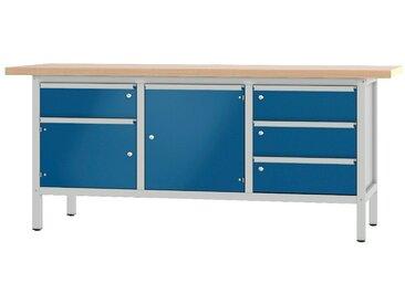 PADOR Werkbank »31 S 243«, blau, 85.5 cm, grau/blau
